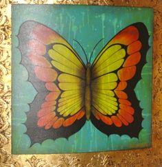 ©Thelma Zambrano - Mariposa Naranja - Técnica mixta sobre lienzo 60 x 60 cm. Colección Privada