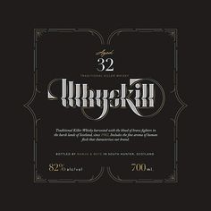Whyskill  #typography #type #lettering #goodtype #design #typeverything #letters #whisky #label