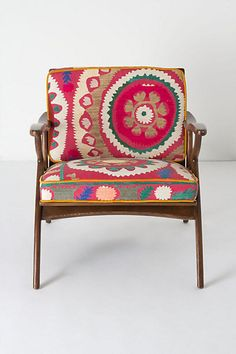 Inge Chair, Vintage Suzani #anthropologie