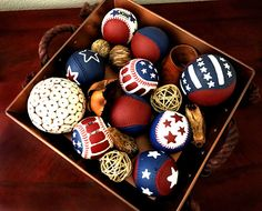 Items similar to Americana Painted Baseballs. Patriotic, Fourth of July, Memorial Day, Summer on Etsy Americana Paint, Americana Crafts, Patriotic Crafts, Patriotic Party, July Crafts, Summer Crafts, Crafts To Do, Diy Craft Projects, Paper Crafts