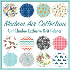 The Girl Charlee Fabrics Modern Air Knit Fabric Collection