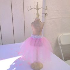 Ballerina baby shower. The jewelry holder is from Michael's.