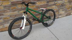 "#mountainbike #bmx f-bom marauder, our new 26"" Dirt Jumper frame, in transparent green. Check it!"