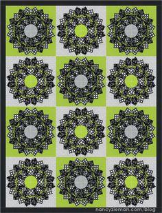 Block of the Month Quilt by Nancy Zieman/Dresden Fan Quilt Block