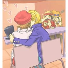Sabo x Koala Ace covers his and Luffy's eyes hahaha