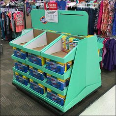 A trapezoidal outline made this point-of-purchase promotion more attention…