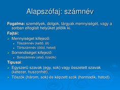 PPT - Szófajok PowerPoint Presentation - ID:1417202 Presentation, Education, Onderwijs, Learning