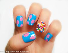 Cotton Candy and Sprinkles Nails Katy Perry Inspired.