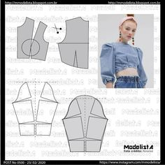 VK is the largest European social network with more than 100 million active users. Clothing Patterns, Sewing Patterns, Costura Fashion, Sewing Sleeves, Modelista, Costume Patterns, Pattern Cutting, Pattern Drafting, Diy Dress
