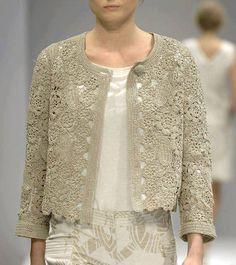 Wear a lace cardigan today! See how a lace cardigan can give your added appeal right here. Gilet Crochet, Crochet Cardigan Pattern, Crochet Jacket, Freeform Crochet, Crochet Blouse, Irish Crochet, Knit Crochet, Lace Cardigan, Crochet Tops