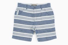Men's Stephan Stripe Shorts (Indigo Blue) By Wolf and Man