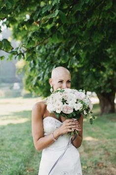 Pin for Later: Unconventional Wedding-Beauty Ideas That Are Far From Boring Bald and Beautiful