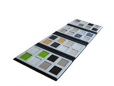 4 pages sample book for 8 colors 60*70*5mm quartz stone samples. Xiamen Victor Industry & Trade Co., Ltd  is the leading factory for ABS quartz stone sample binder,stone sample binder,stone sample book,granite display book, tile sample book and quartz sample folder at China.