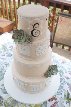 Papel Picado Mexican Wedding Cake!