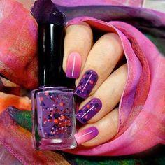 Gradient Mani pink and purple. #nailart #nails #polish - bellashoot.com