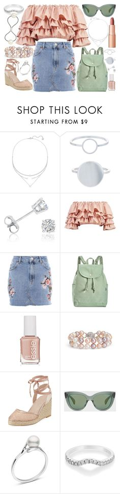 """""""Untitled #89"""" by allegral ❤ liked on Polyvore featuring Swarovski, Accessorize, Amanda Rose Collection, Boohoo, Topshop, BAGGU, Essie, Blue Nile, Adrianna Papell and Charlotte Tilbury"""