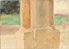 Frascati, Architectural Study / John Singer Sargent / c. 1907 / NGA