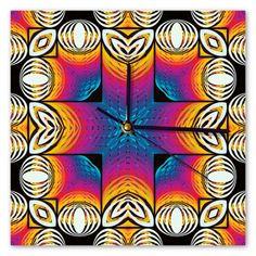 Clock Samba, Sunday, Clock, Retro, Abstract, Diamond, Wall, Artwork, Watch