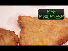 Bife à Milanesa no micro-ondas