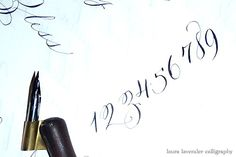 pretty calligraphy numbers
