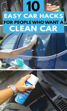 Keeping the car clean and organized can be a big ask when you're so busy. These 10 budget-friendly car cleaning tips will help you keep that car on your drive organized at all times! Car Cleaning Hacks, Car Hacks, Diy Cleaning Products, Hacks Diy, Deep Cleaning, Cleaning Supplies, Car Products, Professional Organizing Tips, Getting Organized At Home
