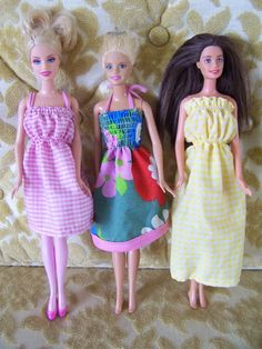 Sewing Barbie clothes made easy. Shirring takes away the fiddliness of sewing tiny clothes