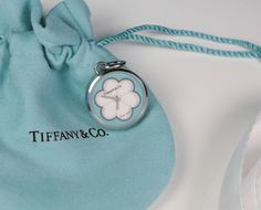 7aaf1ac8e NEW Tiffany & Co. Blue Blossom Watch Charm Pendant Stainless Steel Retired  Clock #TiffanyCo #Charm