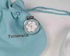 eca3c66d1 NEW Tiffany & Co. Blue Blossom Watch Charm Pendant Stainless Steel Retired  Clock #TiffanyCo #Charm
