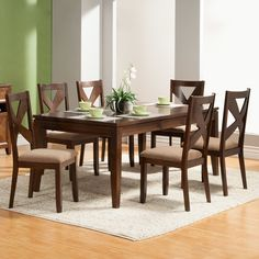 FREE SHIPPING! Shop Wayfair for Alpine Furniture Albany 7 Piece Dining Set - Great Deals on all Furniture products with the best selection to choose from!