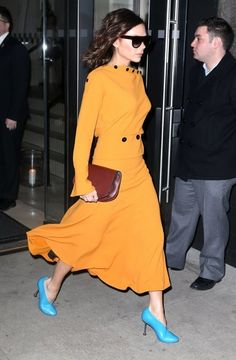 Designer Victoria Beckham spotted stepping out in New York City, New York on February 6, 2017