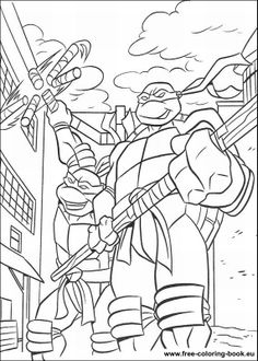 Free Coloring Books | Coloring pages Teenage Mutant Ninja Turtles (TMNT) - Page 1 ...