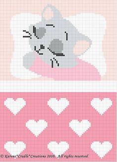 Crochet Patterns-sweet Dreams Baby Girl Kitten Pattern for sale online Tunisian Crochet Stitches, Afghan Crochet Patterns, Baby Knitting Patterns, Baby Patterns, Cross Stitch Patterns, Free Knitting, Baby Girl Crochet, Baby Blanket Crochet, Sweet Dreams Baby