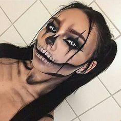 halloween 2018 coole Halloween Make-up Ideen fr 2018 - halloween - - Maquillage Halloween Clown, Alien Halloween Makeup, Amazing Halloween Makeup, Scary Makeup, Halloween Makeup Looks, Halloween Costumes, Witch Makeup, Cool Halloween Ideas, Halloween Makeup Last Minute