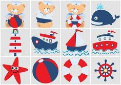 Osito marinero, lindos imprimibles gratuitos - Dale Detalles