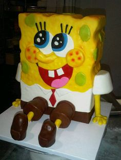 SpongeBob Cake....... i should have this for my b-day!!!!!