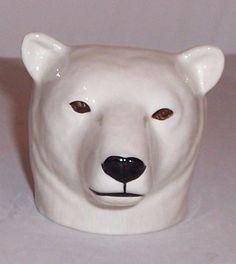 QUAIL Polar Bear Faced Egg Cup NEW