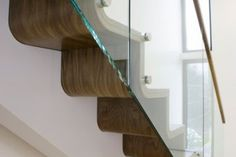 Nice curved tread and riser detail to this Norwegian Staircase