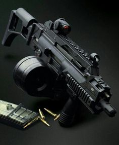 HK G36. Loading that magazine is a pain! Get your Magazine speedloader today! http://www.amazon.com/shops/raeind