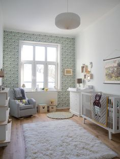 Love the layout of this nursery from decor8. The size of it is so similar to the room that is to be my little boy's new room so will definitely be using as inspiration.