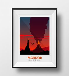 Poster Art Print of Mordor Lord of the Rings by CiaranMonaghanArt