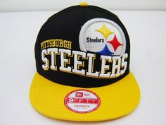 713c69de999 New Era NFL Pittsburgh Steelers Split Block Retro 2 Tone Snapback Cap 9fifty  NewEra