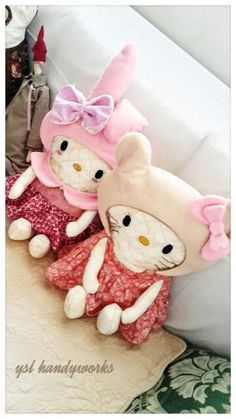 Pillow toys. Illustration from melody and kitty.