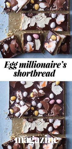 This reinvented classic features sweet caramel on a crumbly biscuit base and is scattered with our favourite chocolate eggs Tray Bake Recipes, No Bake Desserts, Baking Recipes, Easter Deserts, Easter Treats, Sainsburys Recipes, Shortbread Recipes, Easter Traditions, Easter Chocolate