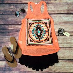 With a black skirt instead! Super cute summer outfit!