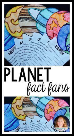 "Are you looking for a school project to help teach your students about planets and the solar system? This fun craft for kids is interactive and educational! Students research the planets and write the facts on each ""fan!"" #TheSolarSystem&Planets"