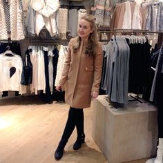 This Collarless coat on Kiera is perfect for keeping warm this Winter. Who needs a hug when you can feel snug #cosy