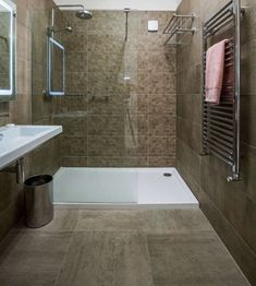 Home & Bathroom Interior Inspiration from TileStyle Taupe Bathroom, Bathroom Showrooms, Shower Room, Bathroom Design Inspiration, Tile Showroom, Bathroom Interior, Bathroom, Bathroom Shower, Tile Bathroom