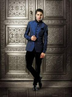 Designer Blue Suits For Men Designer blue suits for men Wedding Men, Wedding Suits, Post Wedding, Wedding Stuff, Sherwani, Engagement Dress For Men, Indian Men Fashion, Men's Fashion, Moda Crochet
