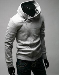 wear a Korean male fashion hooded sweater!