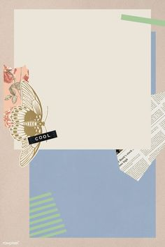 Download premium psd / image of Vintage pastel collage style banner template by katie about collage, torn paper, washi tape mockup, flower collage, and background 2094715